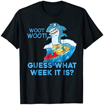 Guess What Week It Is Funny Shark T Shirt product image