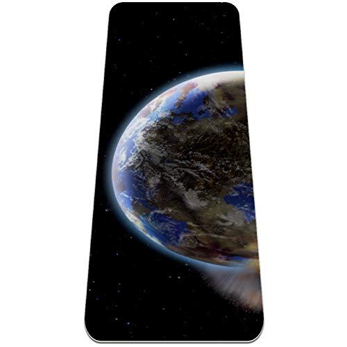 Universe Planets Starry Sky - Esterilla de yoga extra gruesa, respetuosa con el medio ambiente, antideslizante, para todo tipo de yoga, pilates y ejercicios de piso, 183 x 61 cm