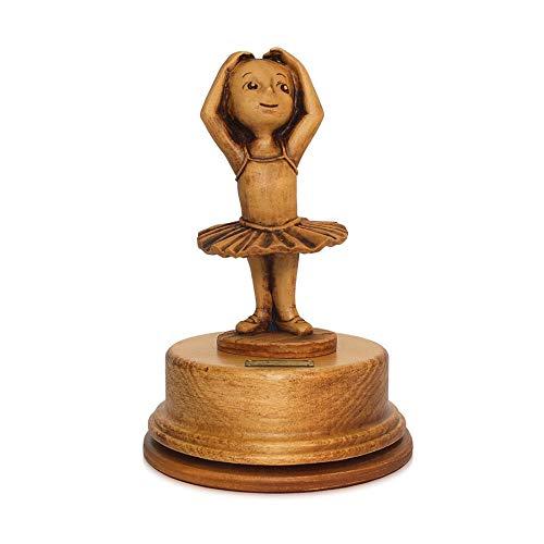Lutèce Créations - Caja de música Animada de Madera Tallada con Bailarina de pie (Fabricado en Italia)