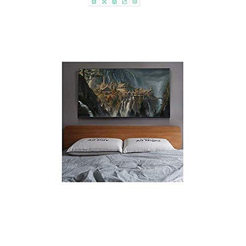 Amokr Bild auf leinwand 30x60cm kein Rahmen Bruchtal Herr der Ringe Plakate Hobbit HD Leinwanddrucke Wandkunst Ölgemälde Dekoratives Bild Modern Home Dcoration7