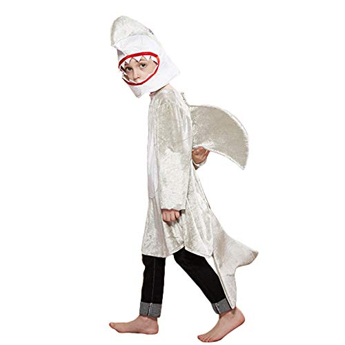 Disfraz Cos DecoracióN Animal Disfraz EspectáCulo Escenario Prop Disfraz NiñOs Marine Life Silver Shark Suit