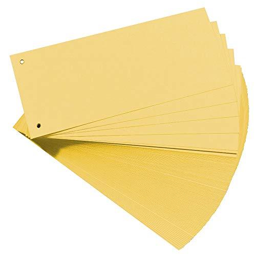Oxford Trennstreifen, Karton, farbig, gelb, 100 Stück
