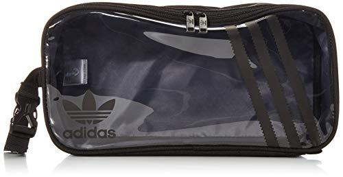 adidas Originals Schuhtasche, Unisex, transparent, 3 Streifen, Schwarz / Transparent, Einheitsgröße