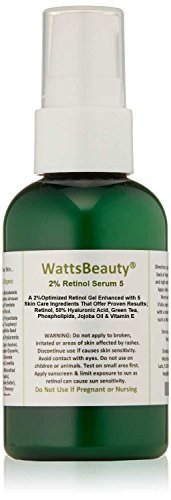 Watts Beauty 2% Retinol Serum - Hyaluronic Acid Gel Blend - No Parabens - Made in the USA - Perfect for Dull Skin, Aging Skin, Wrinkles, Large Pores, Oily Skin, Acne Prone Skin & Much More - 98% Natural / 72% Organic - 4oz by Watts Beauty
