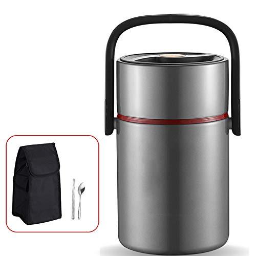 Pixier Boccetta per alimenti termico, per contenitore per alimenti caldi, Portatile/Acciaio Inossidabile/isolamento sotto vuoto a doppia parete/a tenuta stagna e senza BPA/essere usat