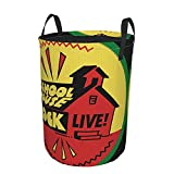 schoolhouse rock Laundry Basket Collapsible Laundry Hamper Drawstring Hampers Circular Storage Bins Waterproof Dirty Clothes Bags Toys Organizer For Kitchen Round Tunic Dirty Pocket