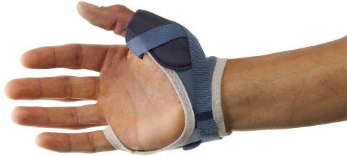 PSB Sports Daumenstütze – Blau/Weiß, Größe S (linke Hand)
