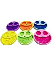 Kids Trends Smiley Face Plates for,Return Gifts for Kids Birthday Party (Pack of 6)