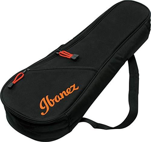 Ibanez IUBC301-BK - Custodia per ukulele da concerto, colore: Nero con logo colorato
