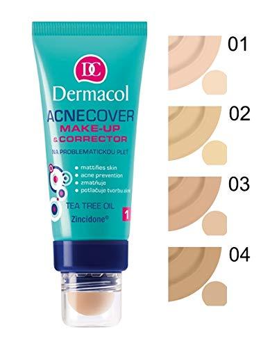 Dermacol - Maquillaje + Corrector para Pieles Acneicas - Acnecover 03-1 unidad