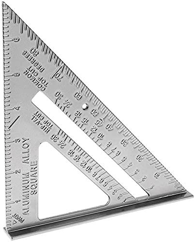 LHY De múltiples Fines Placa Triangular de fundición de triángulo de 90 Grados de 45 Grados triángulo Cuadrado Cuadrado Cuadrado Regla de Metal Conveniencia