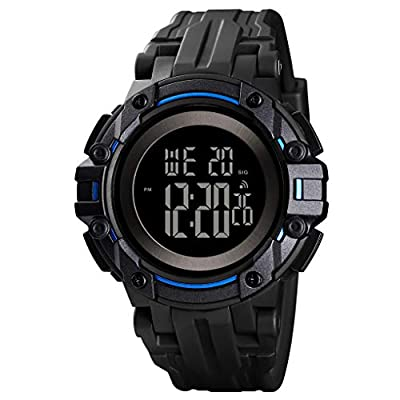 Men's Digital Watch Waterproof Sport Tactical Watches for Men with Stopwatch Alarm