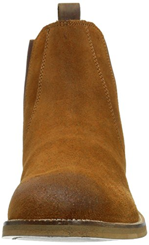 Crevo Men's Denham Chelsea Boot, Chestnut Suede, 13 M US