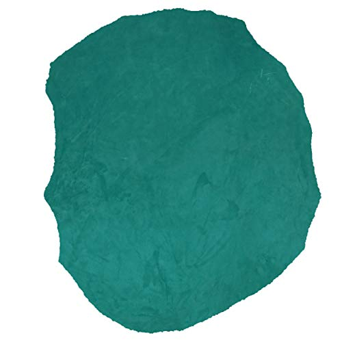 Glacier Wear First Quality Leather Buckskin Hide Teal Suede (6.75 to 7.50 sq ft)