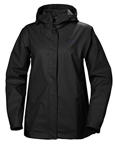 Helly Hansen Moss Windproof Rain Shell Giacca Impermeabile, Nero, M Donna