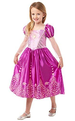 Princesas Disney - Disfraz de Rapunzel Deluxe para nia, infantil 5-6 aos (Rubie's 640722-M)