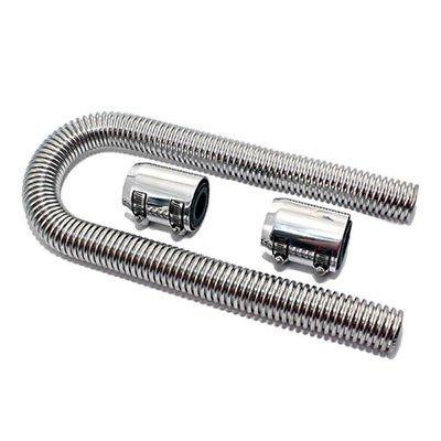 Ting AO Flexible en acier inoxydable poli 91,4 cm Radiateur kit de tuyaux Chrome Caps Peut être utilisé avec 1 1/10,2 cm, 1 1/5,1 cm, ou 1 3/10,2 cm Radiateur une Encolure.