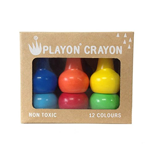 Easy To Hold Toddler Crayons, Stackable and Non-Toxic, Primary Color Set