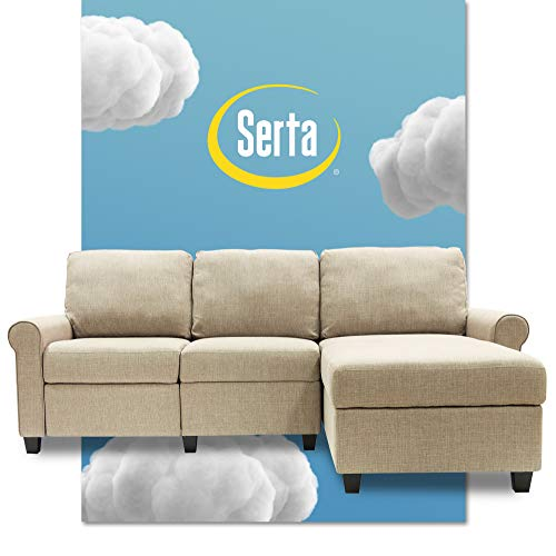 Serta Copenhagen Reclining Sectional with Right Storage Chaise - Beige