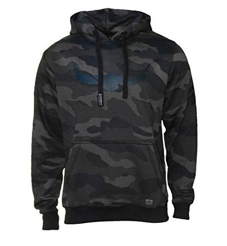 ROCK-IT Apparel® Kapuzenpullover Herren Camouflage Kapuzensweater Urban Streetstyle Hoodie mit Kapuze und Fleece-Innenseite Hoody S-5XL RI1053 Dark Camo 4XL