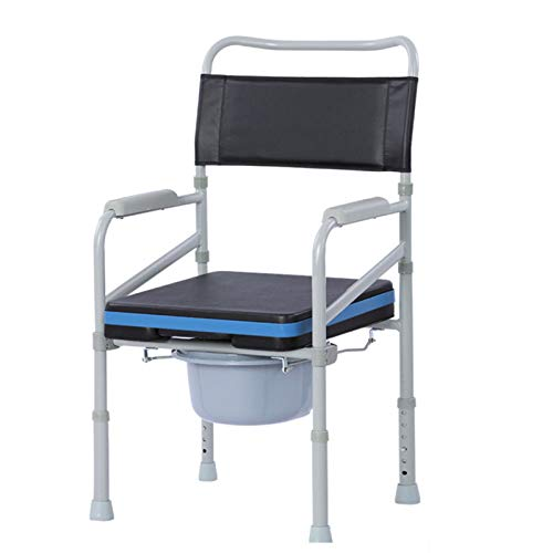 Yiwen Silla WC con cojín y Funda,para Ancianos Mujeres Embarazadas y discapacitados...