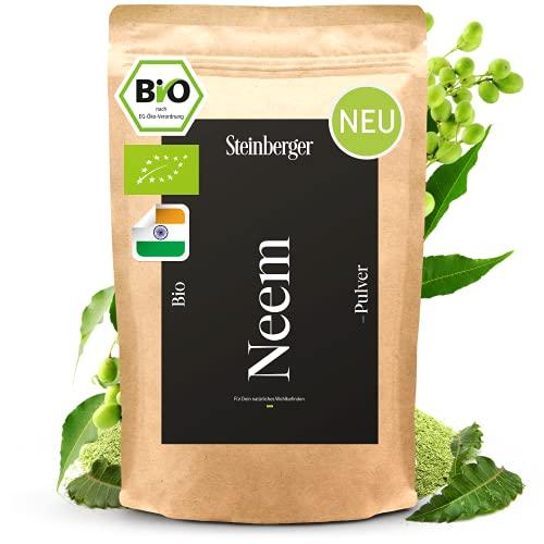 **NEU** Neem Pulver Bio 100g Laborgeprüft u. 100% Natürlich | Indisches Ayurveda Gewürz aus biologischem Anbau schonend fein gemahlen | Vegane Superfood Proteinquelle