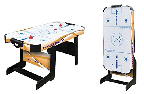 Softee Equipment 0009921 Mesa Air Hockey Plegable, Blanco, S