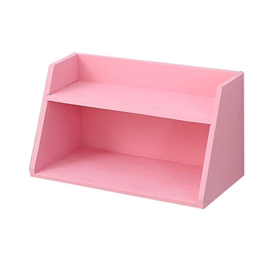 極めて重要な特許交渉するDjyyh ウォールデコレーションストレージラックソリッドウッドディスプレイスタンド - 30x14.5x16.8cm (Color : Pink)