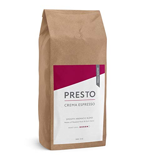 Presto koffiebonen - Smooth Crema - Medium/Dark Roast Hele koffiebonen 1KG - Soepele Arabica & Sterke Robusta - Perfect voor de koffiemachine