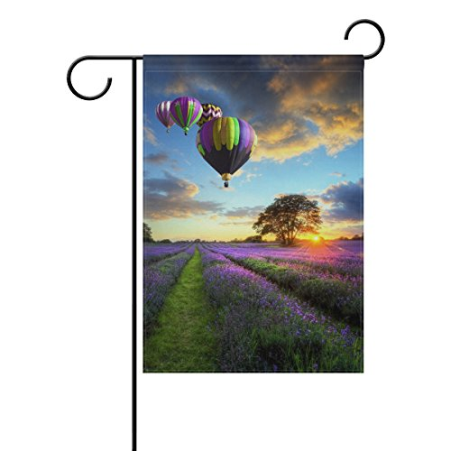 ShineSnow Ballons à air Chaud Home extérieur Décoratif Jardin Drapeau Double Face, Fleur Arbre Paysage Bienvenue saisonnier Maison Yard Drapeaux 30,5 x 45,7 cm 28x40(in) Multicolore