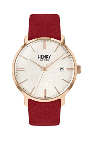 Henry London Orologio Analogico Quarzo Unisex Adulto con Cinturino in Pelle HL40-S-0352