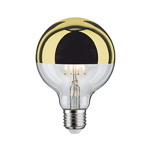Paulmann 28675 LED Lampe Filament G95 6 Watt Leuchtmittel Kopfspiegel Gold 2700 K Warmweiß dimmbar E27