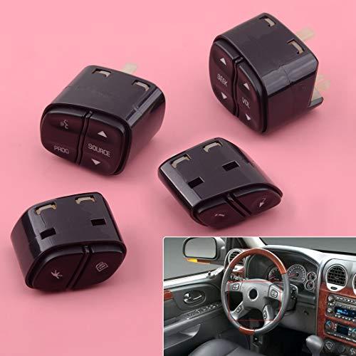 4 unids Volante Radio Control de Volumen Interruptor Pulsadores Ajuste Para Chevrolet Avalanche Silverado Tahoe 21997738 21997739