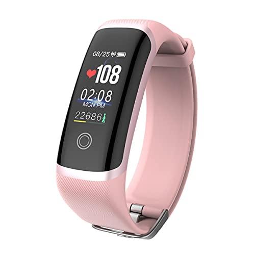 EXEDSCEND Smart Band, Fitness Actividades Tracker con Pantalla a Color de 0.96', 24/7 Monitor de Ritmo cardíaco Continuo 24/7 Seguimiento de sueño Reloj Inteligente con batería Larga Vida,Rosado