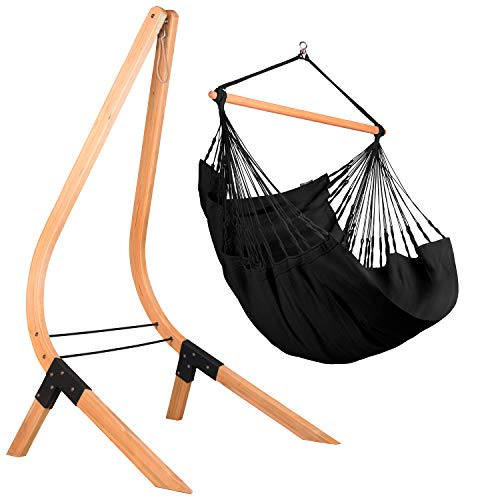 LA SIESTA Organic Cotton Hammock with Sustainable Wood Product Image