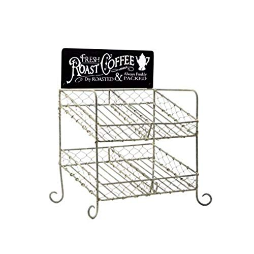 Colonial Tin Works K-cup compatible Vintage Coffee Pod Holder Kitchen Supplies, 8½'W x 6'D x 11¾'T, Brown