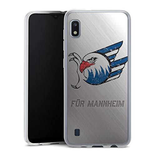 DeinDesign Silikon Hülle kompatibel mit Samsung Galaxy A10 Case transparent Handyhülle Adler Mannheim Logo Eishockey