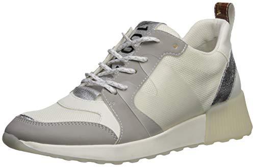 Sam Edelman Women's Darsie Sneaker, White/Fog Grey/Soft Silver, 11 M US