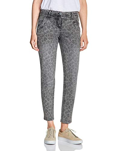 CECIL Damen 372407 Charlize Fit Slim Jeans Mehrfarbig (grey used wash 10189) W33/L28 (Herstellergröße:33)