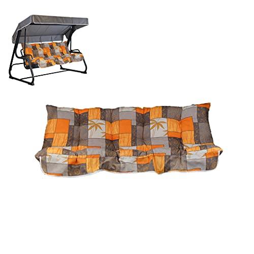Cuscini per Dondolo 4 Posti - Incluso Anche Il tettuccio Coordinato - 100% Made in Italy - Ideale per Esterni (Giardini e Cortili) - Telaio Non Incluso