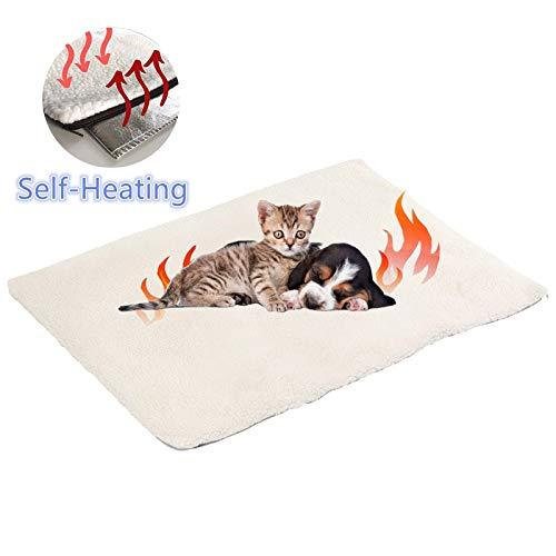 Selbstheizende Decke für Katzen & Hunde, Wärmedecke für Katzen und Hunde,Umweltfreundliche Wärmematte, Heizdecke/Heizmatte,Katzendecke,60x45cm
