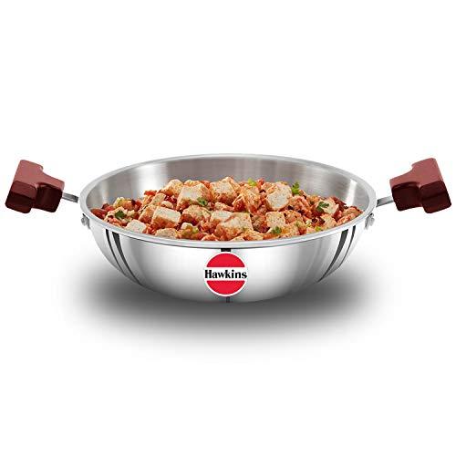 Hawkins - SSD15 Tri-ply Stainless Steel Deep-Fry Pan, 1.5 Litre