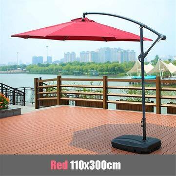 ZOYOSI 110 x 300 cm impermeable sombrilla playa paraguas tela toldo sombrilla cubierta tienda - vino rojo