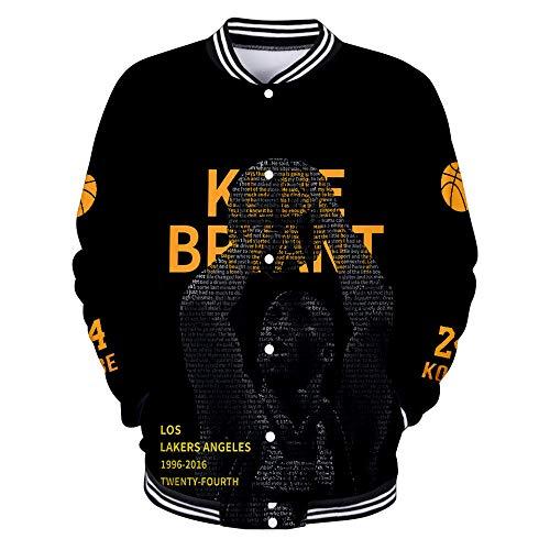UANOU Kobe Bryant Lakers Männer Frauen Baseball Uniform Jacke Langarm Frühling Herbst Winter Polyester Stand Kragen #24 Trikot