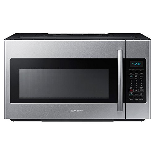Samsung ME18H704SFS 1.8 Cu. Ft. 1000W Over-the-Range Microwave, Stainless Steel (Renewed)