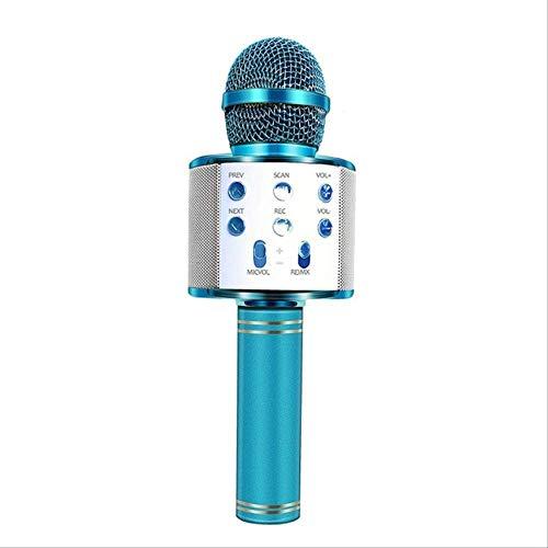 RRYM Mikrofone Bluetooth Drahtloses Mikrofon Handheld Karaoke Mic Usb Mini Home Ktv Für Musik Spielen Singen Lautsprecher PlayerBlau