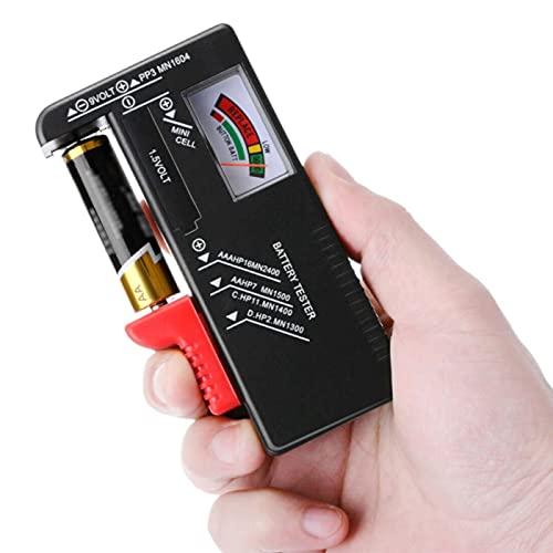 ZHITING Testeur de Piles Universel,Testeur de Piles numérique,pour AA AAA C D 9V Batteries à clé à clé 1.5Vcontrôleur de tension de batterie