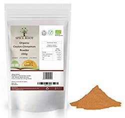 ✅ 100% ORGANIC: Ethically sourced, certified organic Ceylon cinnamon powder 250g. Certified organic by Soil Association. Superior quality product. ✅ AUTHENTIC CEYLON VARIETY: From certified organic farms, without use of any chemicals or additives. Pr...