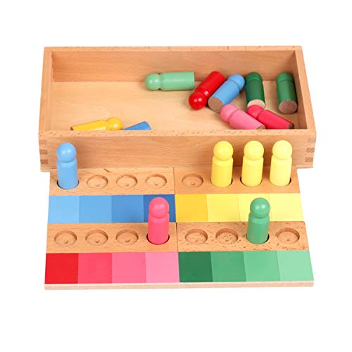 YHZAN Montessori Color Game Resemblance Sorting Task Sensorial Material Early Devlopment Toy Famlily Version