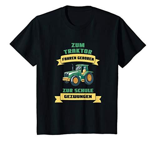 Kinder Zum Traktor fahren geboren zur Schule gezwungen T-Shirt